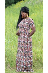 Sere Face Print Dress